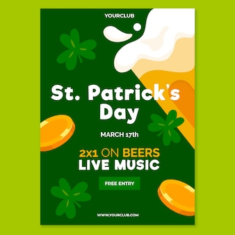 Design plat st. modèle de flyer de patricks day