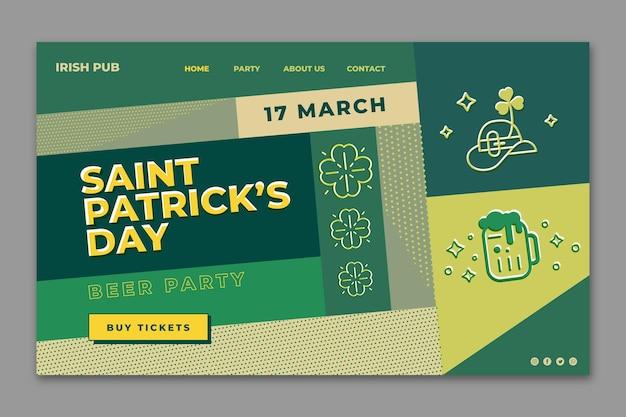 Design plat st. modèle web de patrick's day
