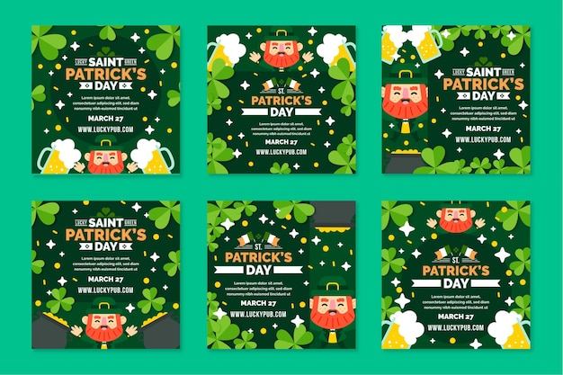 Design plat st. patrick's day instagram posts