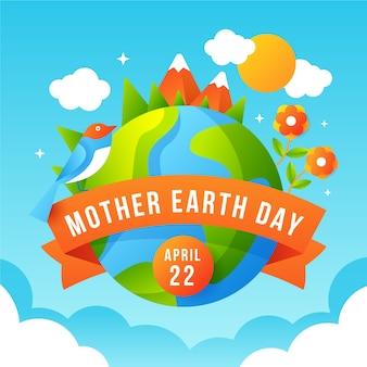 Design plat style jour de la terre mère