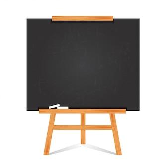Design plat de tableau noir et cadre en bois.
