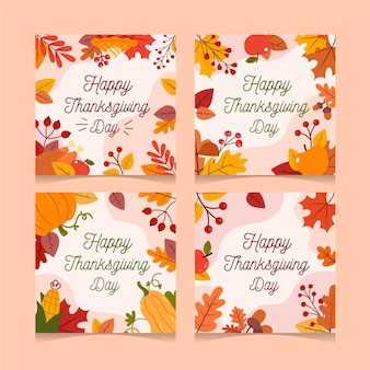 Design plat de thanksgiving instagram posts