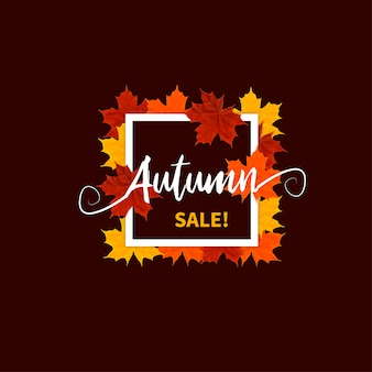 Design plat de vente automne