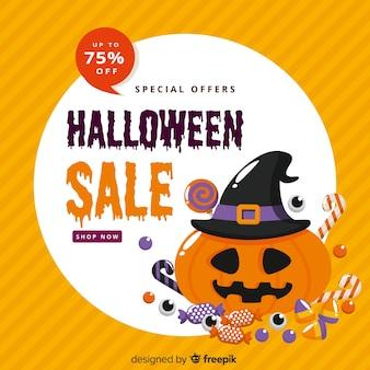 Design plat de vente offre spéciale halloween