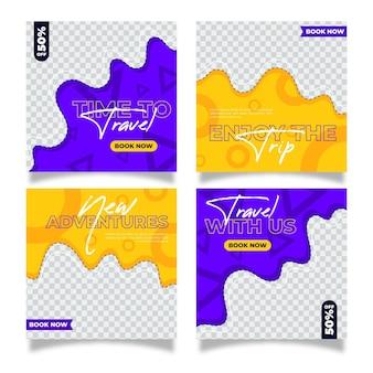 Design plat voyage instagram posts