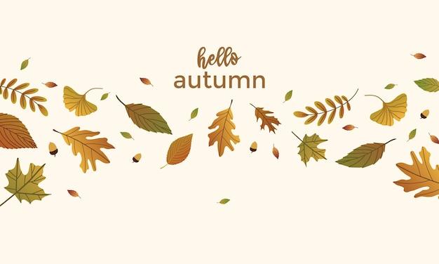 Design platfond de feuilles d'automne
