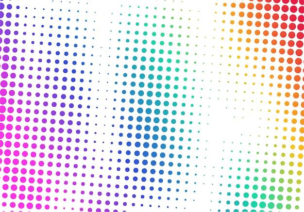 Design pointillé coloré moderne