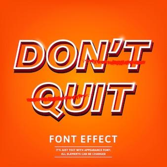 Design de police orange contour 3d bold pour la conception titre titre simple chaud moderne