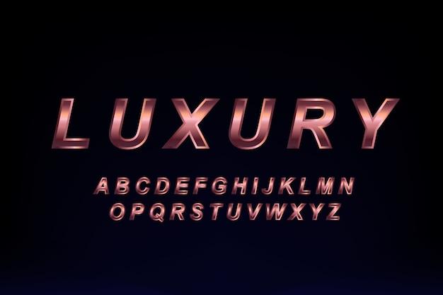 Design de polices de luxe doré