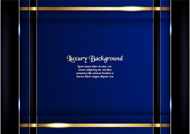 Design premium bleu pour la couverture