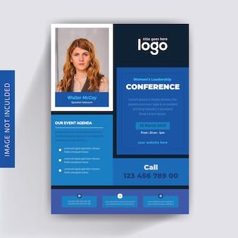 Design de prospectus de conférences d'affaires