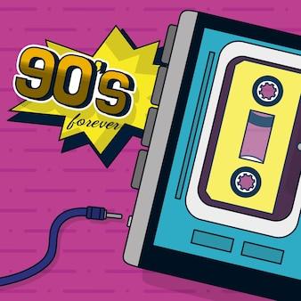Design rétro des années 90