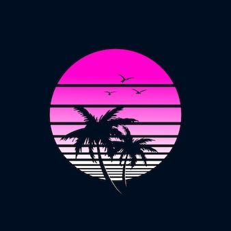 Design rétro de plage