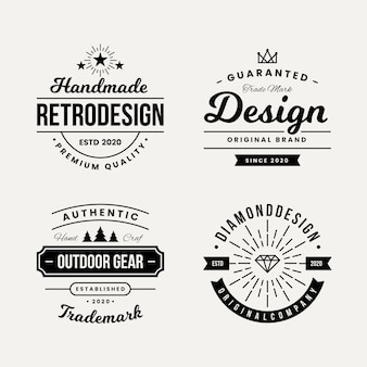 Design rétro pour la collection de logos
