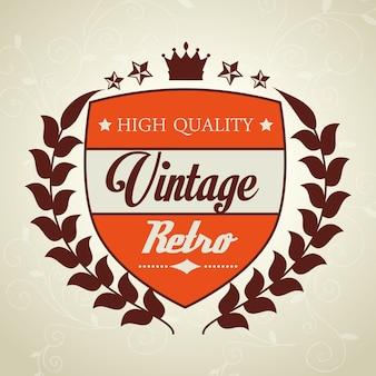 Design rétro vintage.