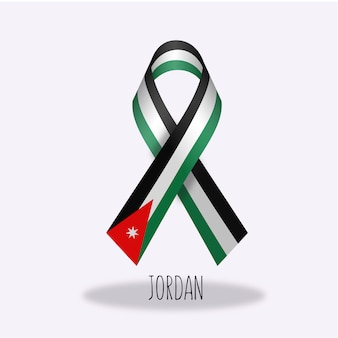 Design de ruban de drapeau jordan