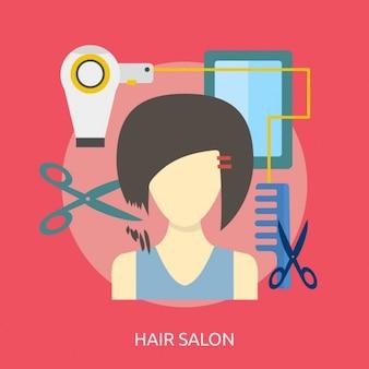 Design salon de coiffure de fond