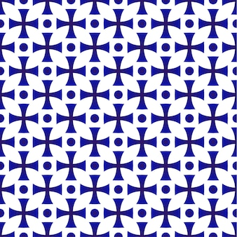 Design sans soudure géométrique en porcelaine, motif en céramique japon et style chinois