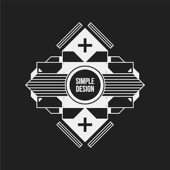 Design simple sur fond noir