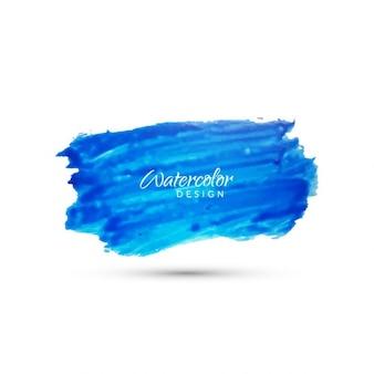 Design splash bleu d'aquarelle