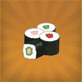 Design sushi de fond