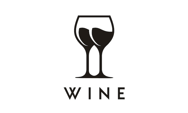 Design de symbole / logo de verre à vin
