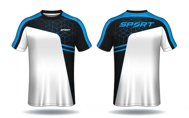 Design de t-shirt de sport en jersey de football.
