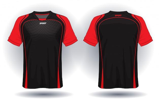 Design de t-shirt de sport en jersey de football