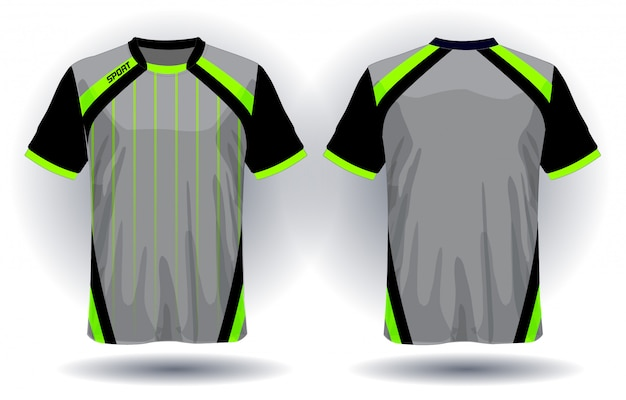 Design de t-shirt de sport en jersey de football