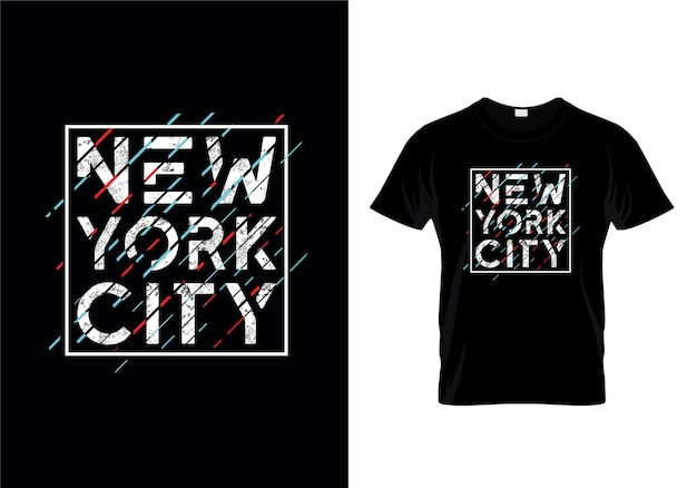 Design de t-shirts typographiques de new york city