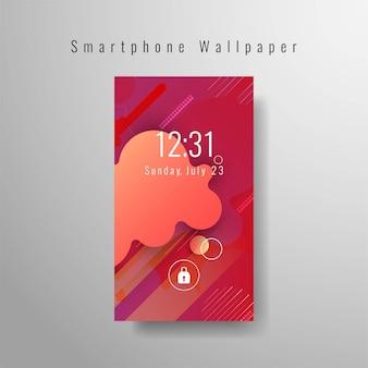 Design tendance décoratif de fond d'écran pour smartphone