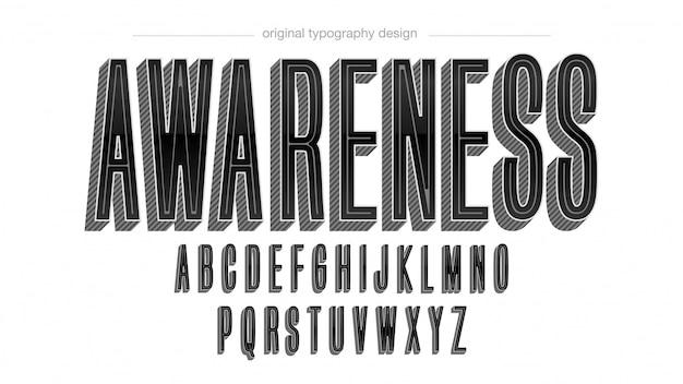 Design de typographie gras rétro noir