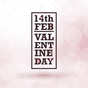 Design typographique de la saint-valentin avec cadre