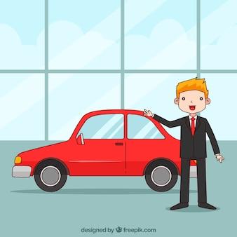 Design de vendeur de voitures