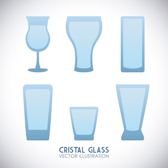 Design en verre cristal