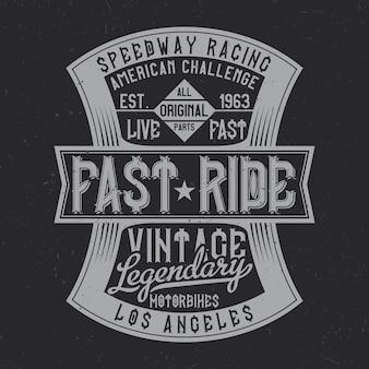 Design vintage avec composition de lettrage sur fond sombre.