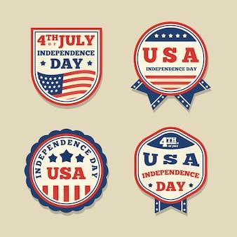 Design vintage événement du 4 juillet