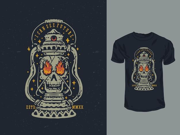Le design vintage de la lanterne de la mort