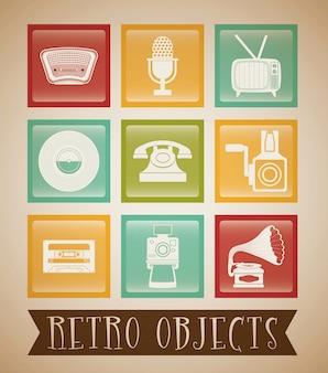 Design vintage d'objets rétro