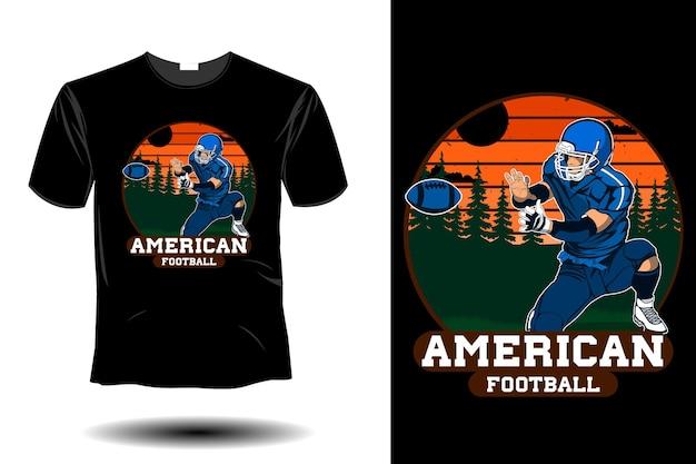 Design vintage rétro de football américain
