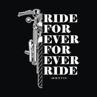 Design vintage rétro pour motard