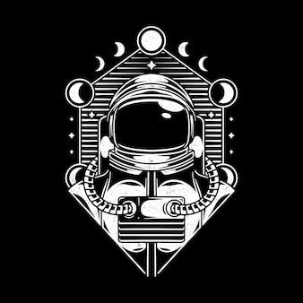 Design vintage de l'univers spaceman