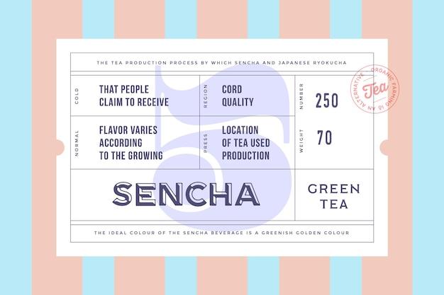 Design vintage vintage étiquette minimale