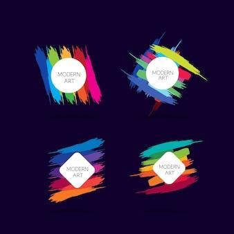 Designs de bannière d'art moderne