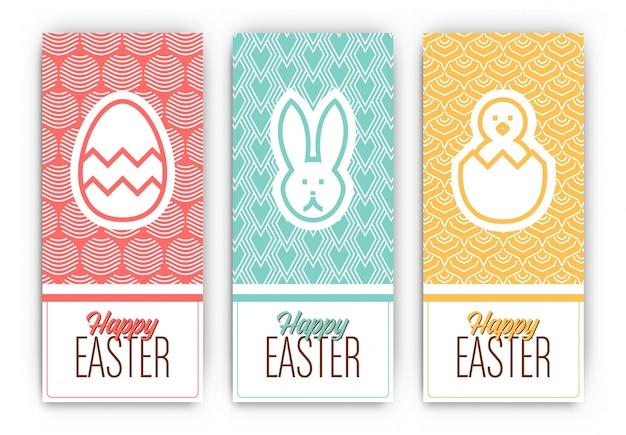 Designs bannière de pâques salutation