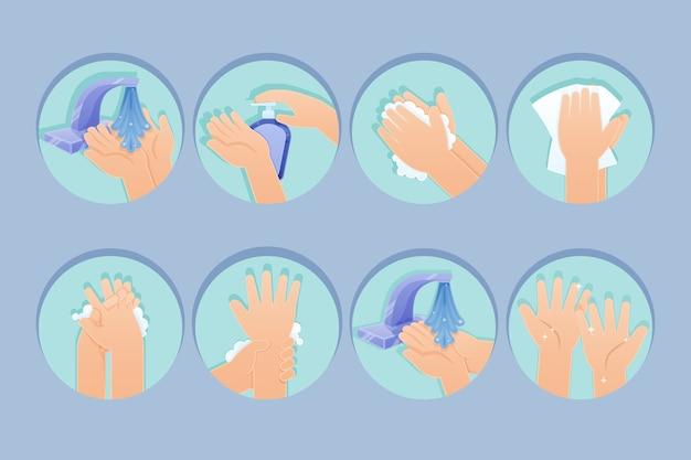 Désinfectant pour les mains design plat