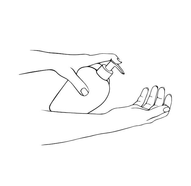 Désinfection des mains savon pour les mains