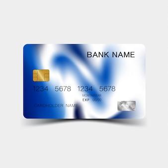 Desing de carte de crédit. couleur bleue. et l'inspiration de l'abstrait.
