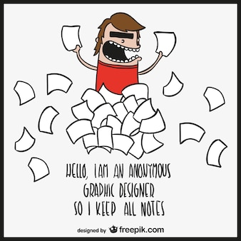 Desinger blague bande dessinée de vecteur