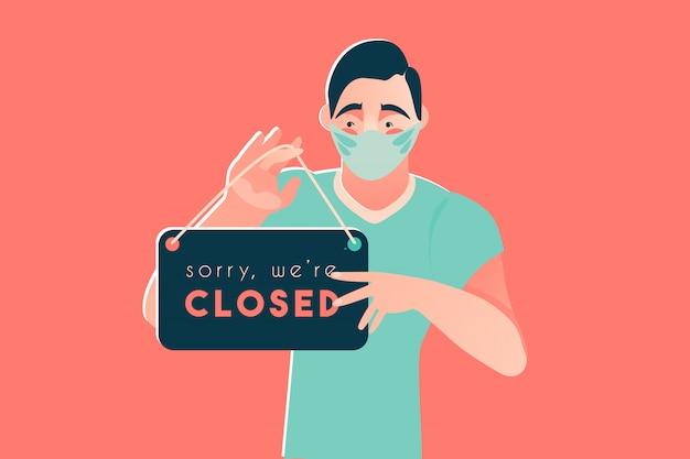 Désolé, nous sommes fermés coronavirus disease 2019 covid-19 quarantine